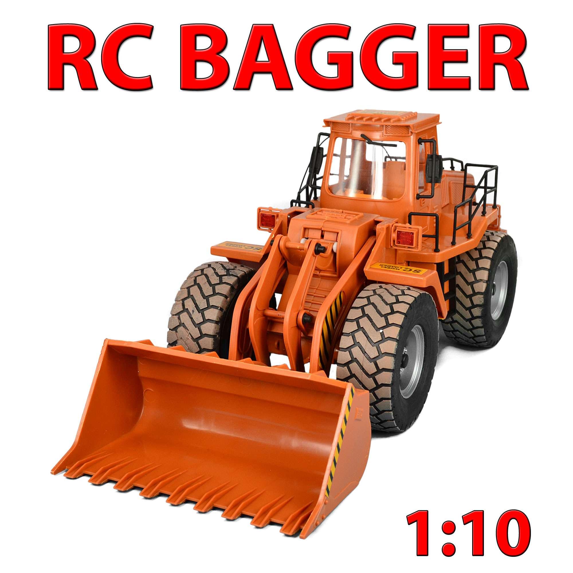 rc ferngesteuerter bagger radlader baustellen auto fahrzeug modell f r kinder ebay. Black Bedroom Furniture Sets. Home Design Ideas