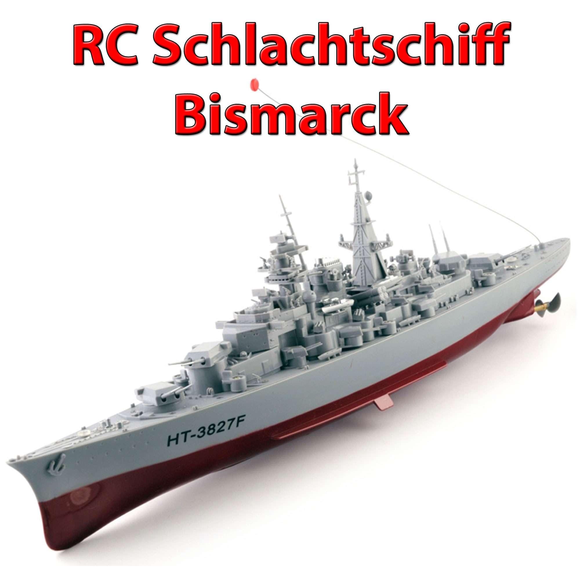 RC-Boot-Schiff-Kriegsschiff-Schlachtschiff-Modell-Bismarck-Modellbau-Fregatte