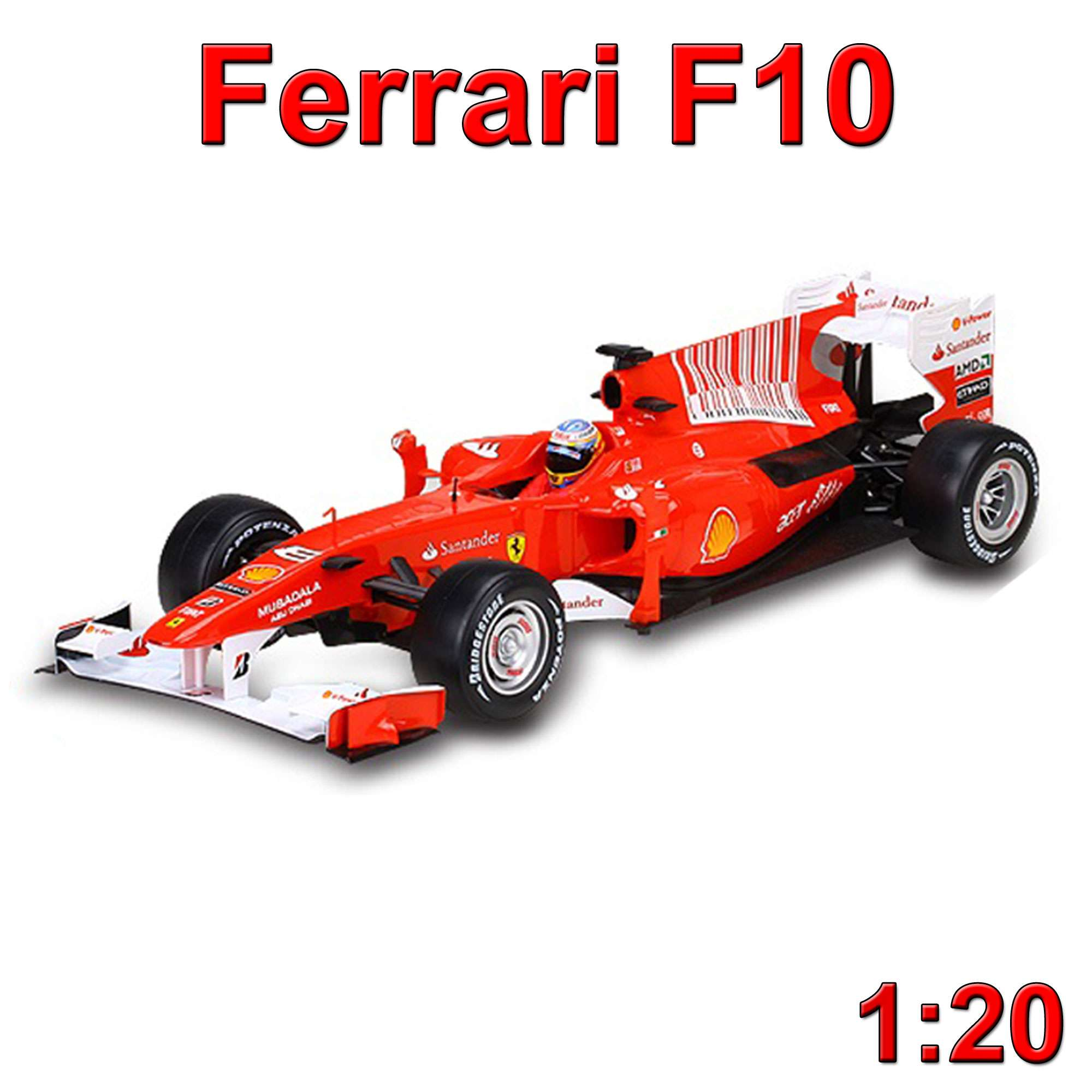 original ferrari f10 f1 formel 1 auto rc ferngesteuertes. Black Bedroom Furniture Sets. Home Design Ideas