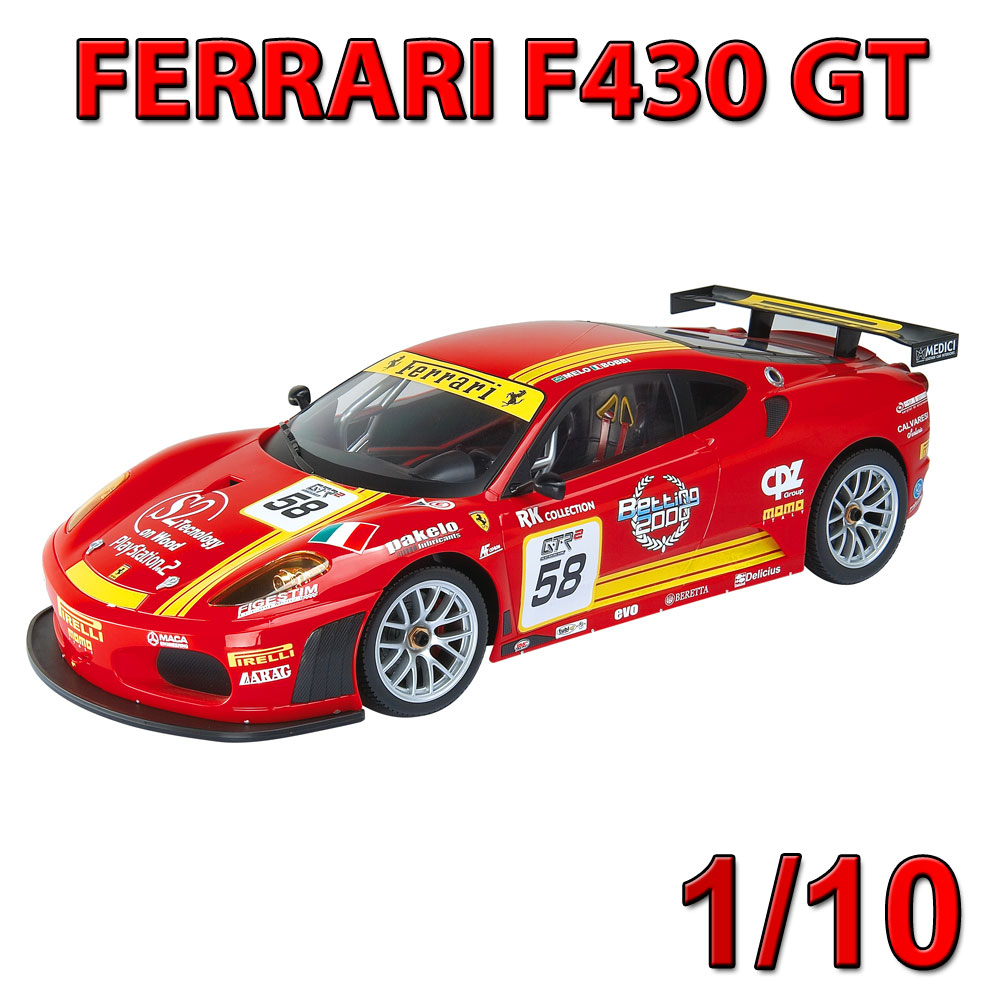 ferrari f430 gt rallye wagen auto rc ferngesteuertes. Black Bedroom Furniture Sets. Home Design Ideas
