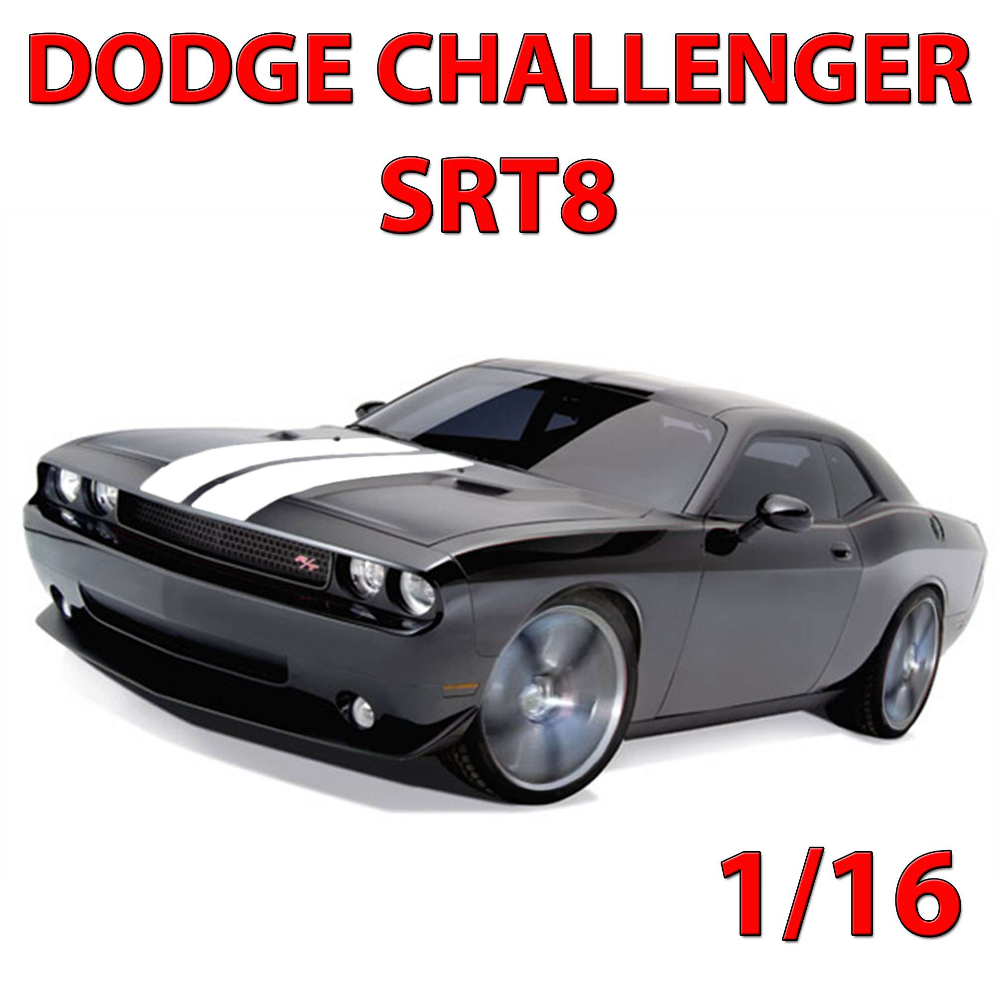 original dodge challenger srt8 rc ferngesteuertes auto fahrzeug 1 16 modell neu ebay. Black Bedroom Furniture Sets. Home Design Ideas