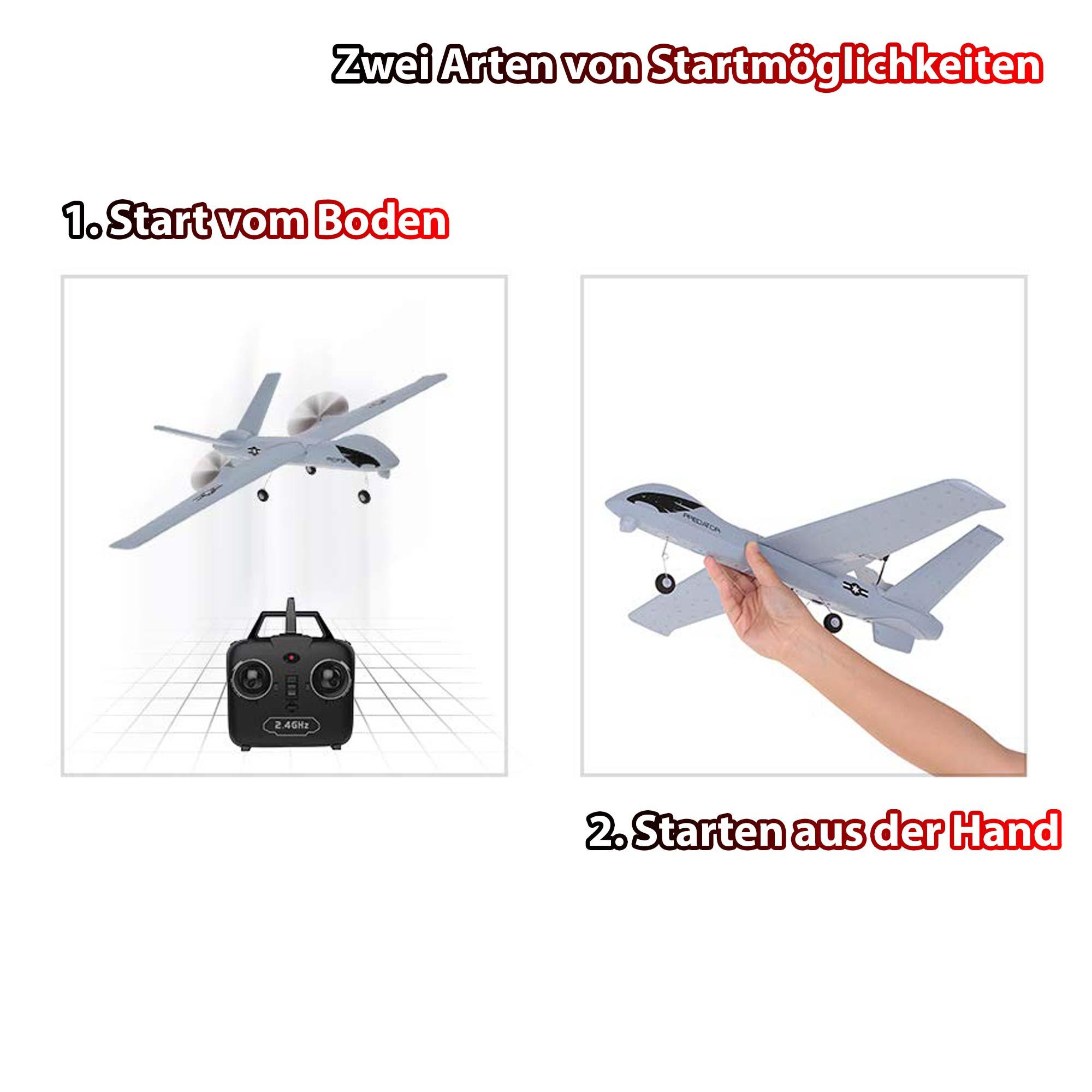 Flugzeug-Modell RC ferngesteuertes Segelflugzeug Aufklärungs-Drohne mit Akku